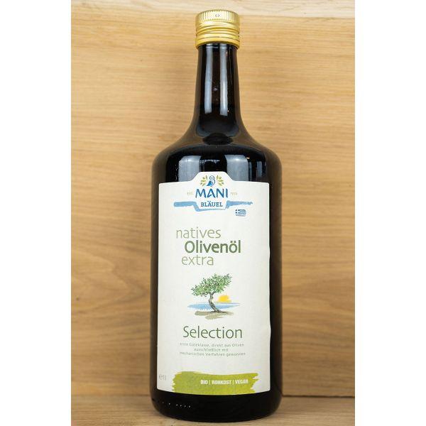 Bio - Olivenöl beste Qualität, mechanisch bei 30°C gepresst, 1000ml