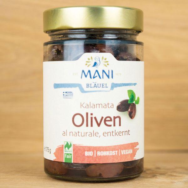 Bio - Oliven schwarz ohne Stein, Rohkostqualität