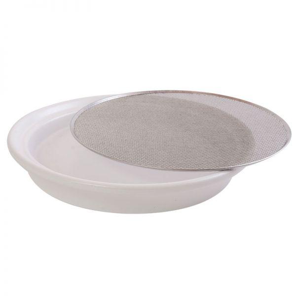 Keramik-Kressesieb weiß 21,5cm