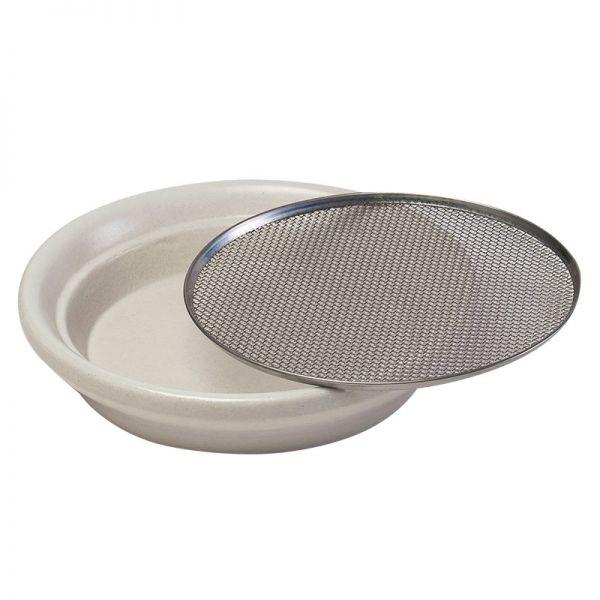 Keramik-Kressesieb weiß 12 cm